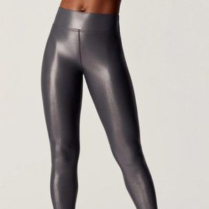 Carbon38 Takara Leggings Hi Rise Shiny Liquid Gray